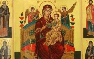 Икона богородице всецарица молитва