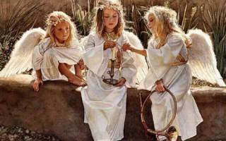 Молитва я иду и со мной три ангела идут