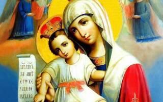 Молитва иконе достойно есть милующая