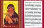 Молитва оберег новорожденных