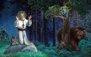 Молитва о болящих серафима саровского