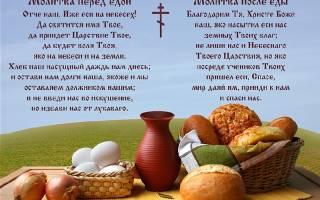 Молитва перед едой и после православная