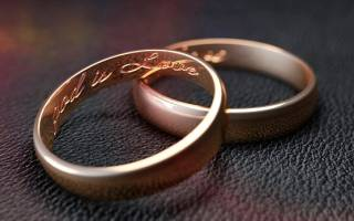 Молитва для венчальных колец