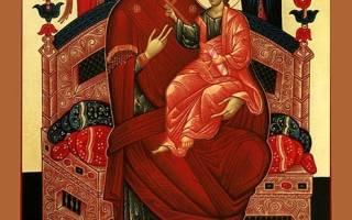 Молитва о выздоровлении перед иконой всецарица