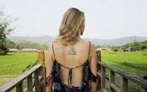 Буддийская молитва татуировка